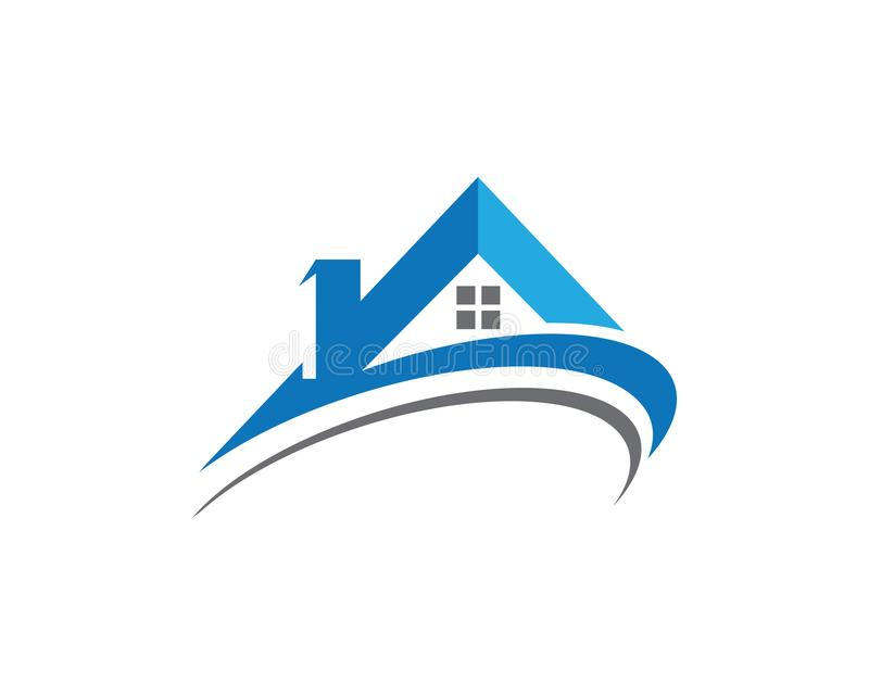 Eigentums-und Bau-Logo entwerfen für Geschäftsunternehmenssi vektor abbildung