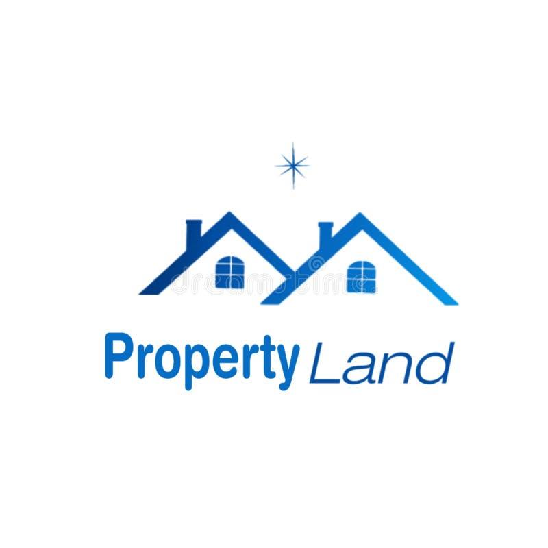 Eigentums-und Bau-Logodesign stock abbildung