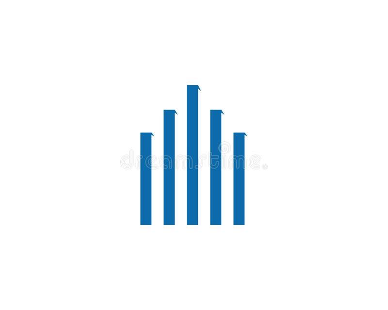 Eigentums-und Bau-Logodesign stockfoto