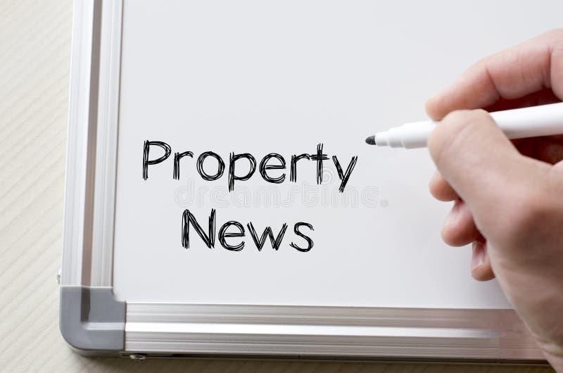Eigentumsnachrichten geschrieben auf whiteboard stockfotografie