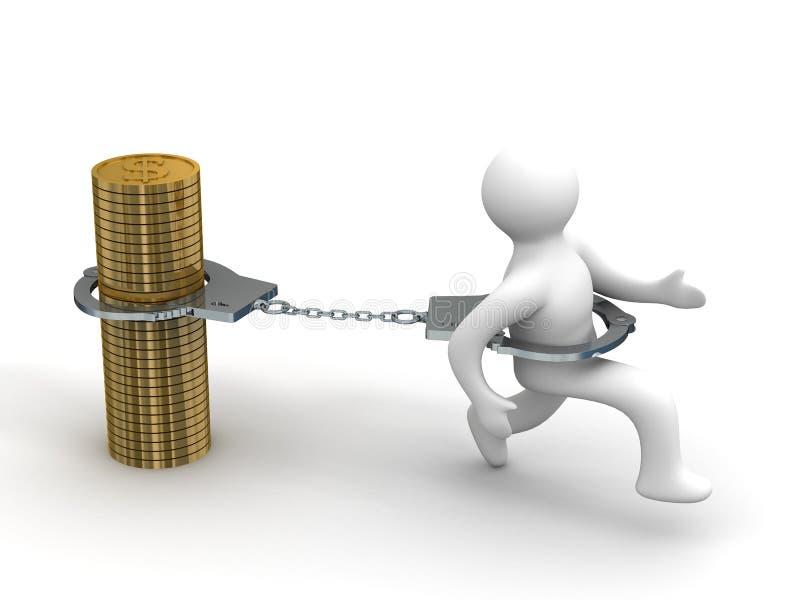 Eigenwechsel. Finanzkrise. lizenzfreie abbildung