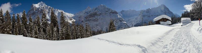 Eiger το χειμώνα στοκ φωτογραφία