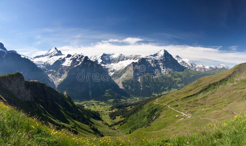 Eiger in Alpen, Zwitserland stock fotografie