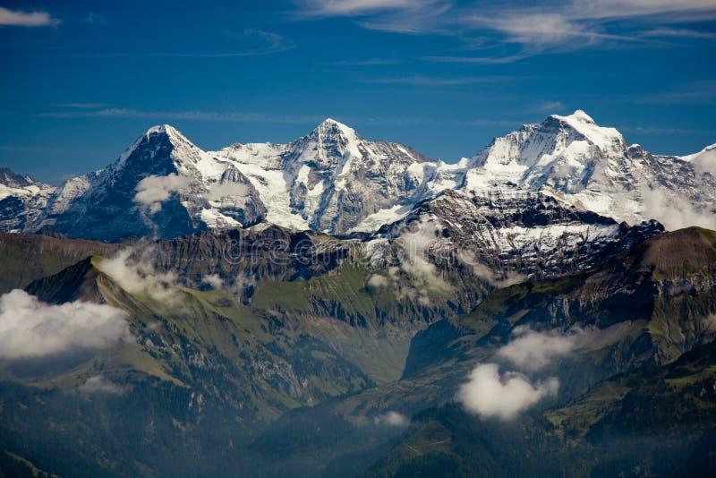 Eiger, Moench en Jungfrau royalty-vrije stock afbeeldingen