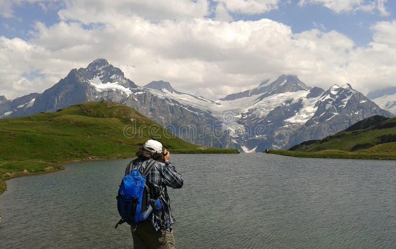 Eiger Monch Junfraug foto de archivo