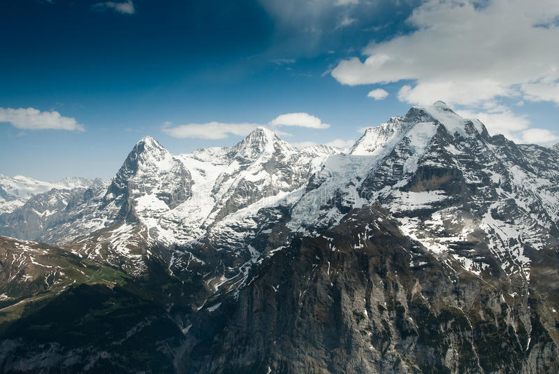 Download Eiger Monch and Jungfrau stock image. Image of angle, range - 9527643