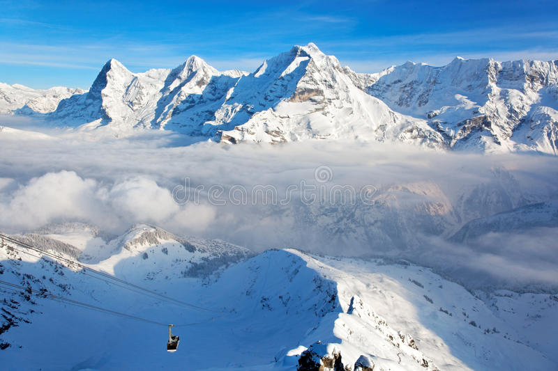Eiger, Monch and Jungfrau, Swiss Alps royalty free stock photos