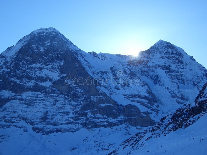 Download Eiger north face stock photo. Image of moench, mountain - 451010