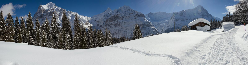 Eiger w zimie fotografia stock