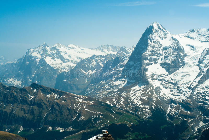 Download Eiger and Wetterhorn stock photo. Image of high, scheidegg - 9498488