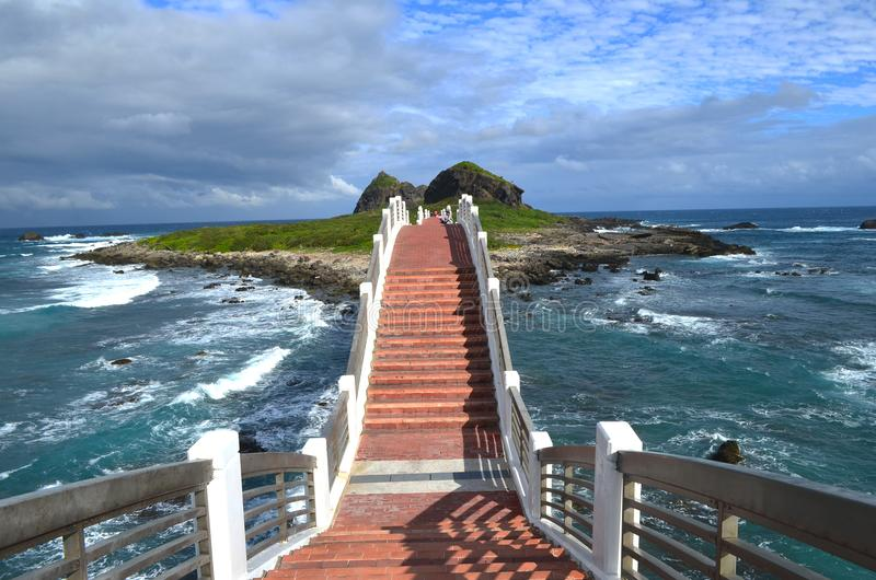 Sanxiantai`s eight-arch bridge, near Chenggong, on Taiwan`s East Coast National Scenic Area. The eight-arched bridge in Sanxiantai, near the town of Chenggong royalty free stock image