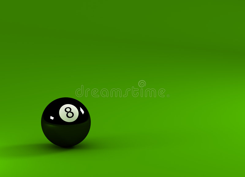 Eight ball royalty free illustration