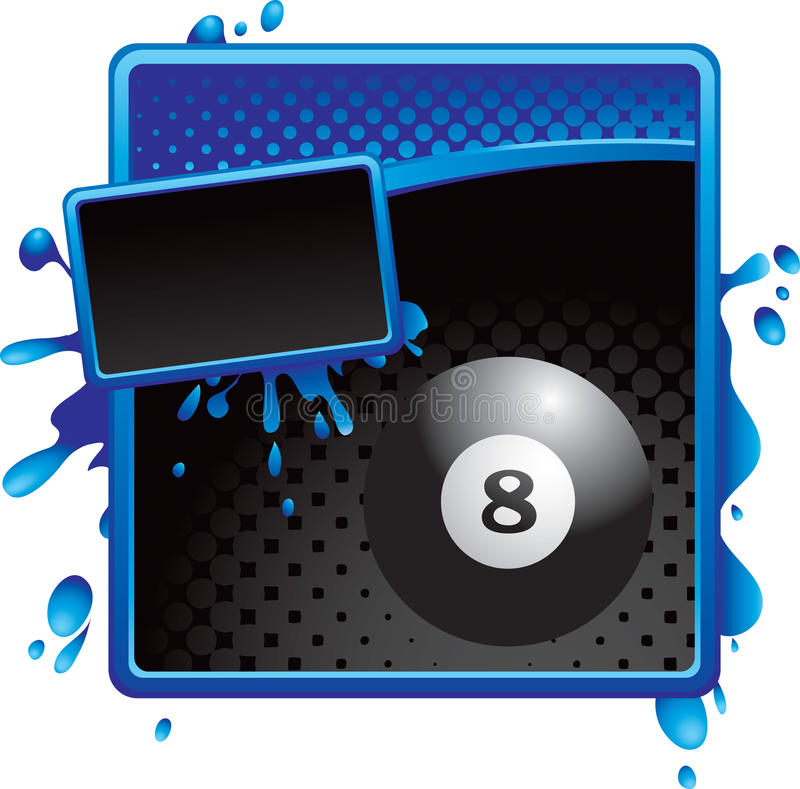 Download Eight Ball On Blue And Black Halftone Banner Royalty Free Stock Photos - Image: 11284908