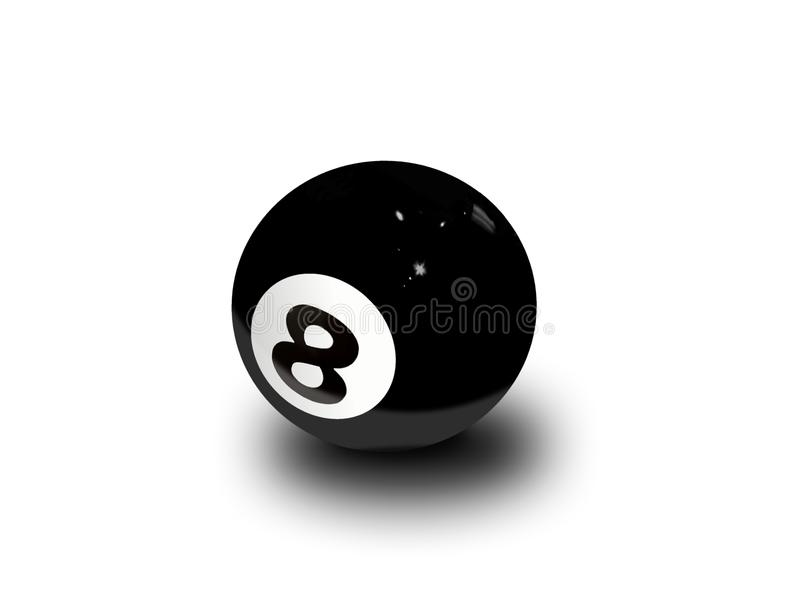 Eight ball over white