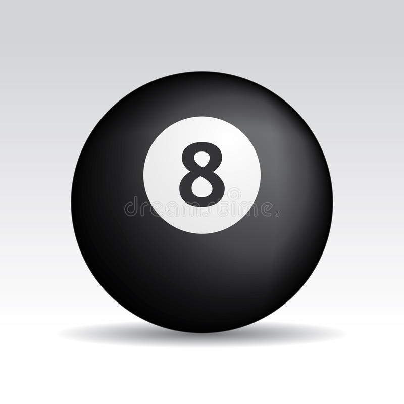 Download Eight ball shadows stock vector. Image of fortune, ball - 22027115