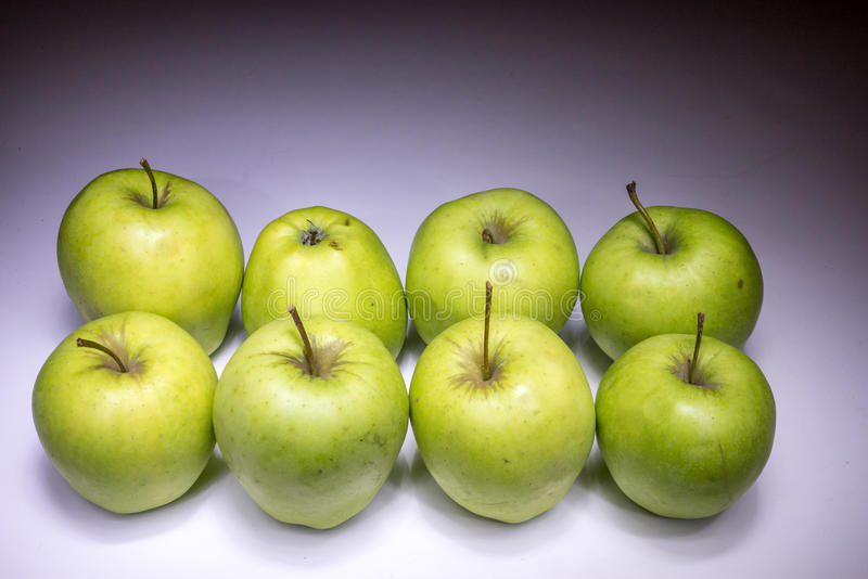 Download Eight green apples stock photo. Image of delicious, natural - 49562090