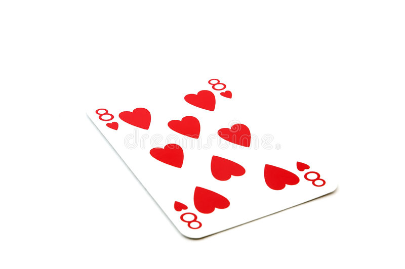 Eight of hearts stock photography