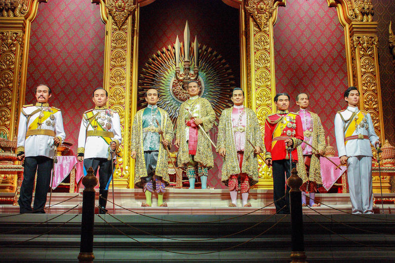 The eight kings of the Chakri Dynasty stock photos