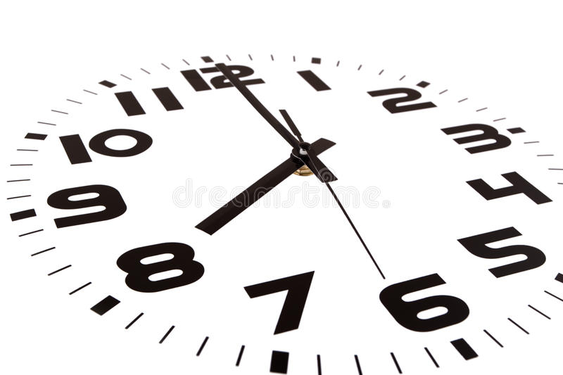 Eight o'clock royalty free stock images