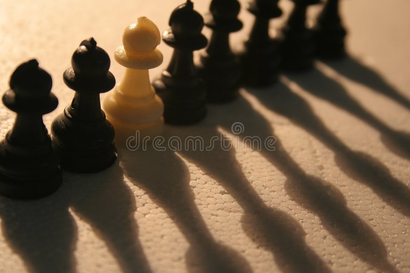Download Eight Pawns stock photo. Image of backlighting, exceptional - 186152