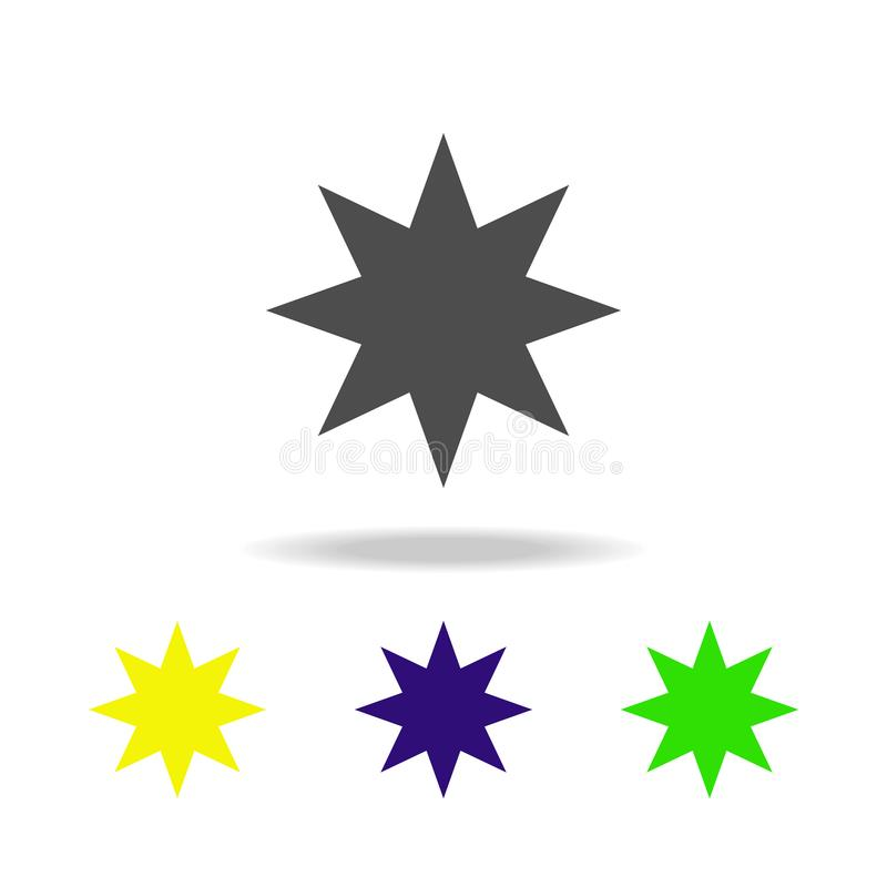 eight-pointed star multicolor icon. Element of web icons. Signs and symbols icon for websites, web design, mobile app on white ba vector illustration