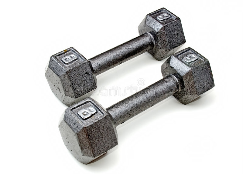 Download Eight pound dumbbells stock photo. Image of dumbell, fitness - 1904812