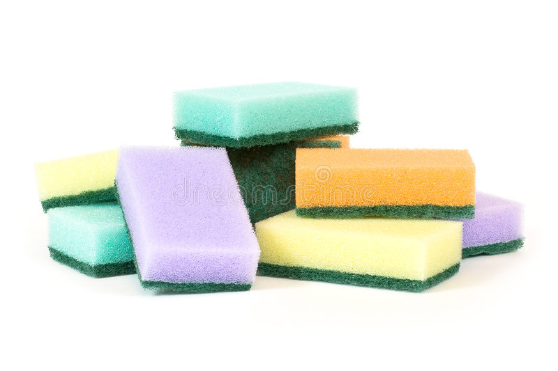 Download Eight sponges stock image. Image of inventory, green, kitchen - 5398077