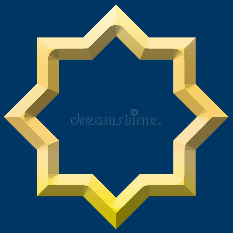 EIGHT STAR FROM THE MIDDLE EAST vector illustration