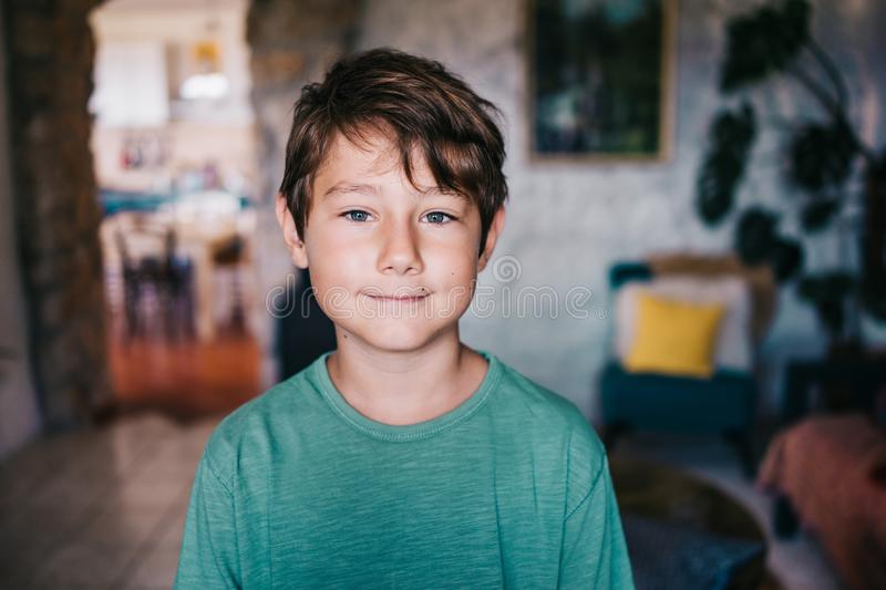 Eight years old boy royalty free stock photos