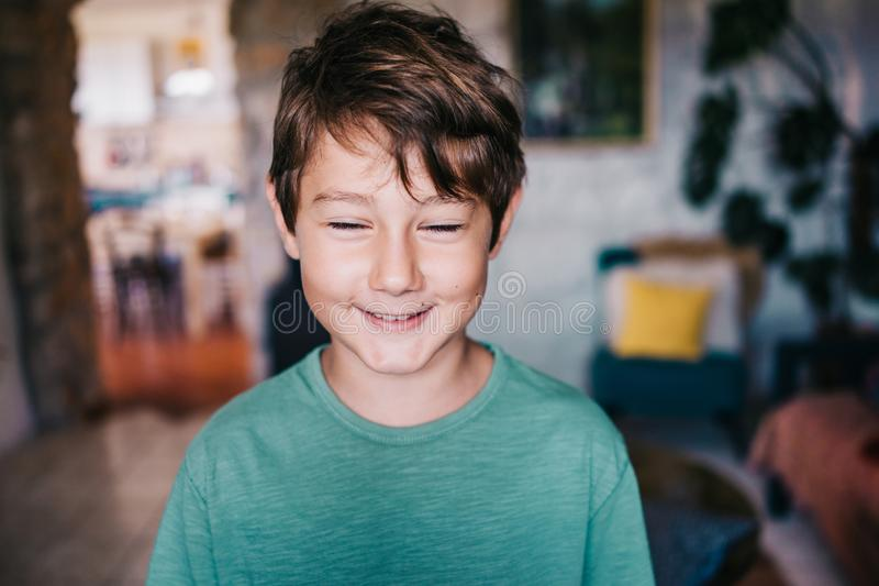 Eight years old boy royalty free stock photography