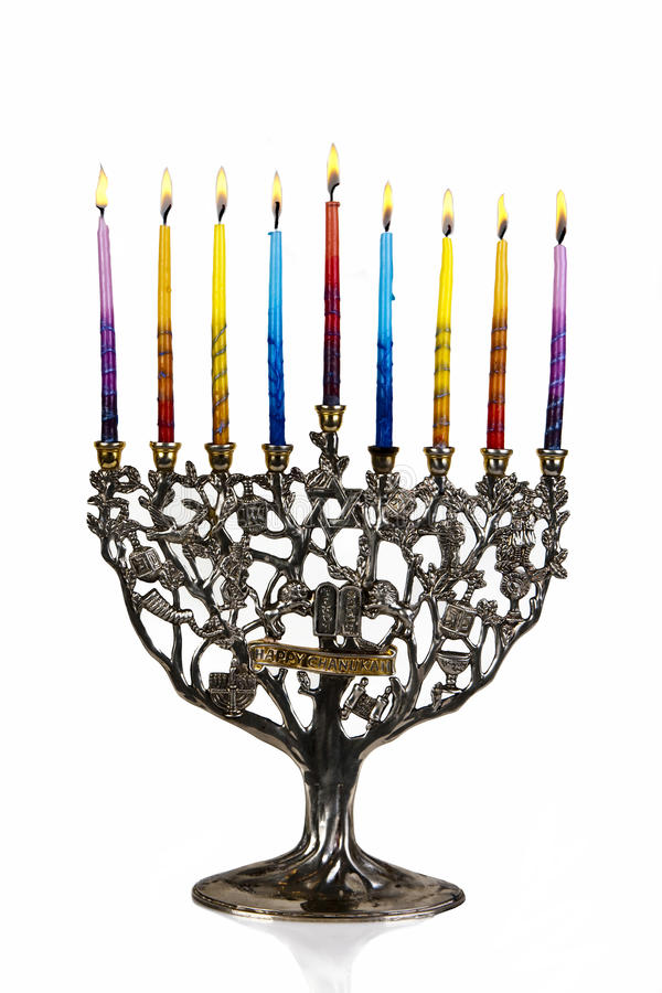 Download Eighth Day Of Chanukah. XXL Stock Photo - Image: 10658012