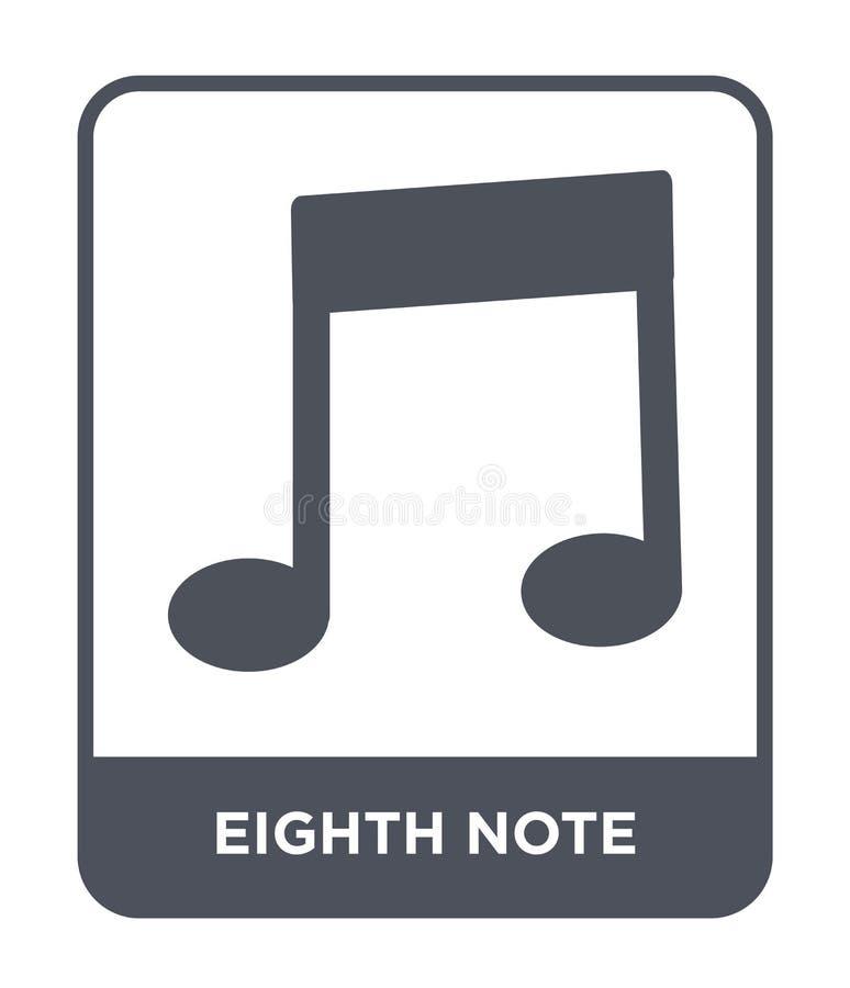 eighth notatki ikona w modnym projekta stylu eighth notatki ikona odizolowywająca na białym tle eighth notatki wektorowa ikona pr royalty ilustracja