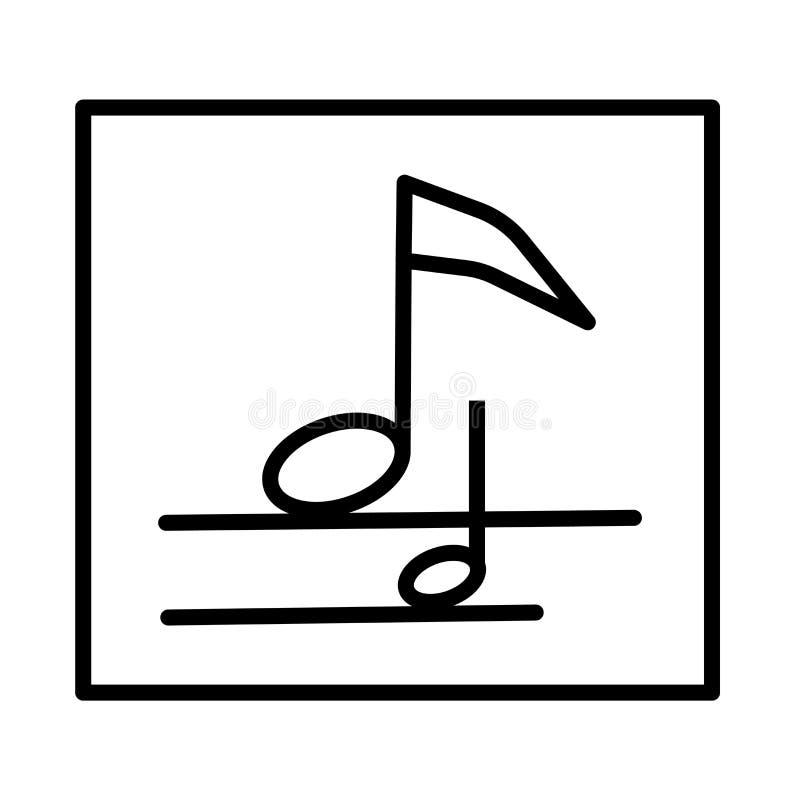 Eighth notatki ikony wektoru znak i symbol odizolowywający na białym tle, Eighth notatki logo pojęcie ilustracja wektor