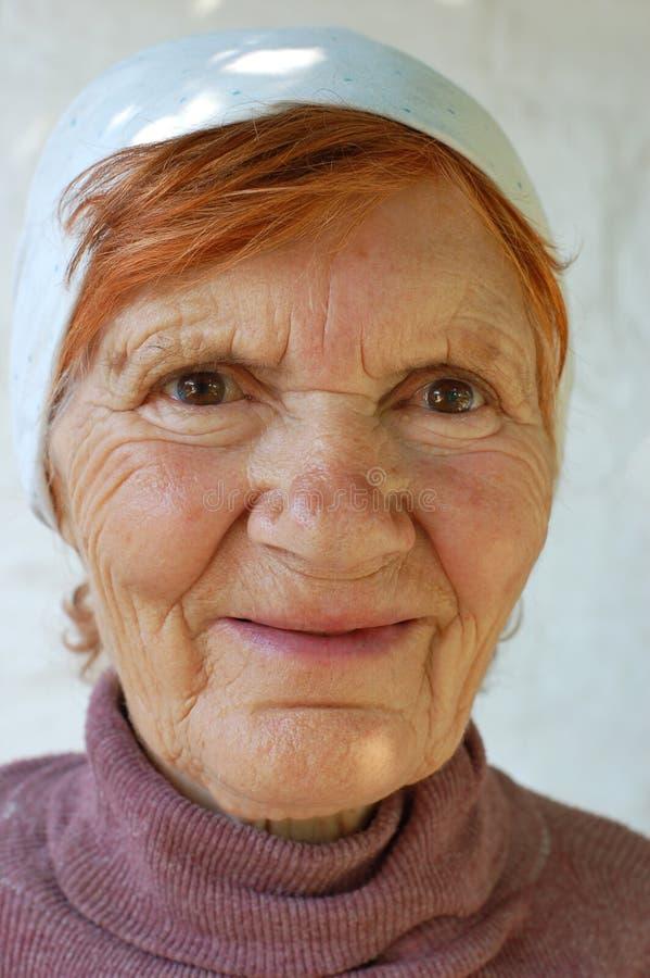 eighties henne rysskvinna royaltyfria foton