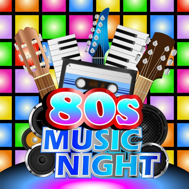 Free Eighties Music Night Stock Photography - 91685252
