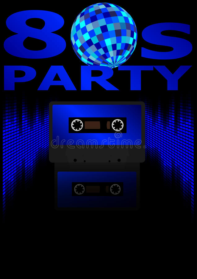 Free Eighties Party Background Royalty Free Stock Photo - 21960045