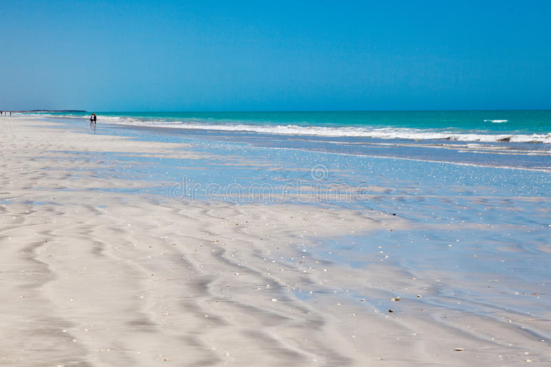 Eighty mile beach. Is located on the beachfront between Port Hedland and Broome, and is an ideal stopover on this long stretch of road. Australia This beach stock image