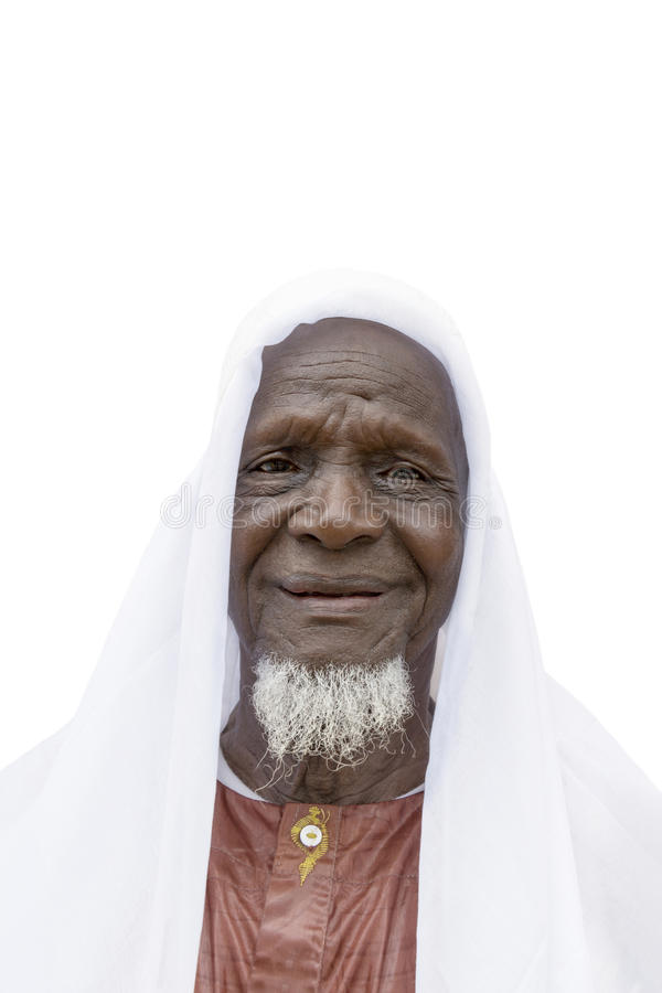 Free Eighty-year-old African Man Ready To Celebrate, Isolated Stock Photo - 60114840