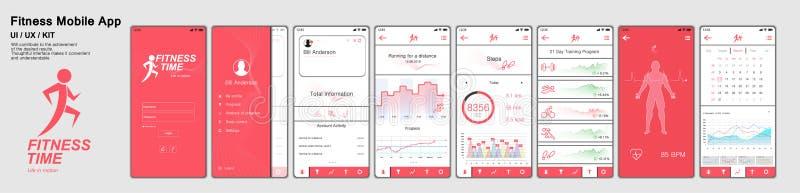 Eignung App-Schirme stock abbildung