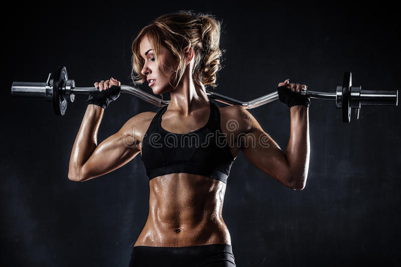 Eignung mit Barbell stockfotos