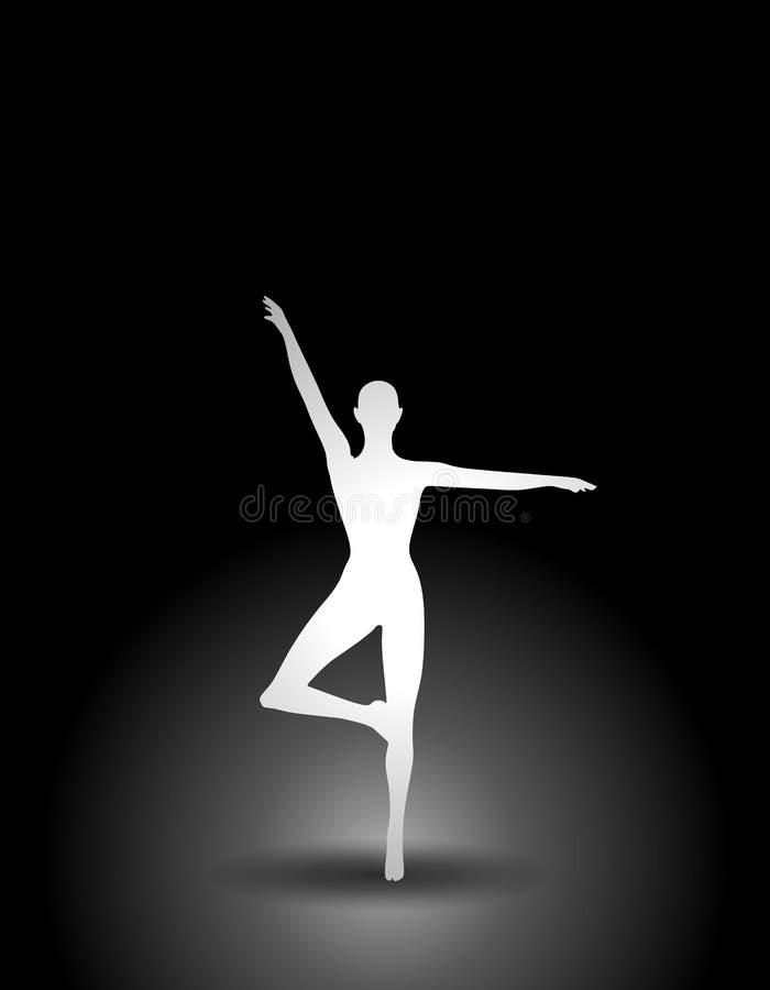 Eignung oder Tänzer-Schattenbild lizenzfreie abbildung
