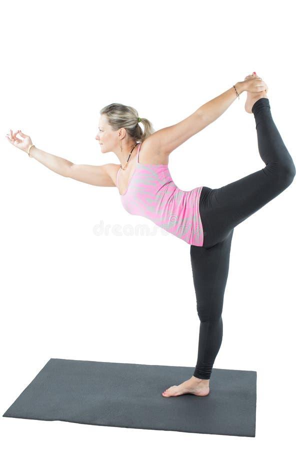 Eignungfrau bilden Ausdehnung auf Yoga lizenzfreie stockbilder