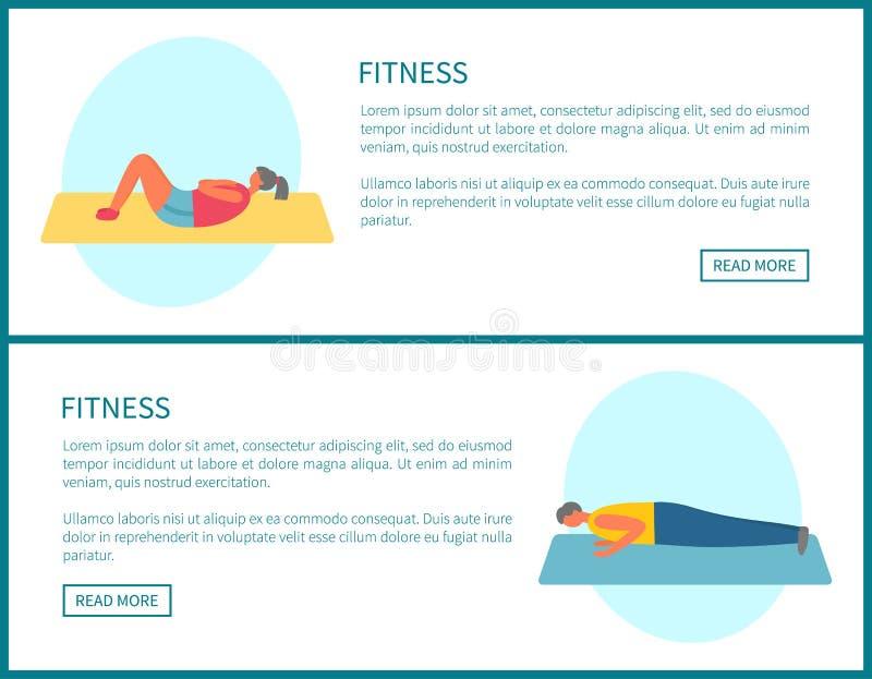 Eignungs-Krisen und Planke, Übungen im Turnhallen-Satz vektor abbildung