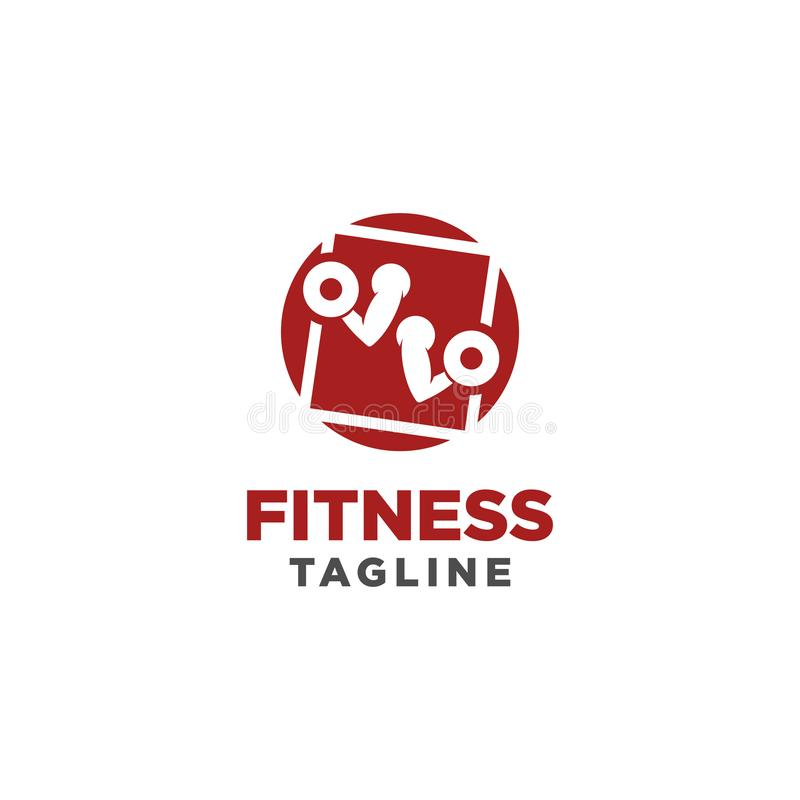 Eignungs-Logo Symbol der Sportbarbe, Gesundheit, Illustration des neuen Lebens lizenzfreie abbildung