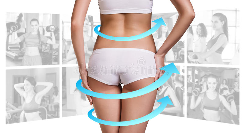 Eignungskonzept des perfekten Körpers lizenzfreies stockfoto