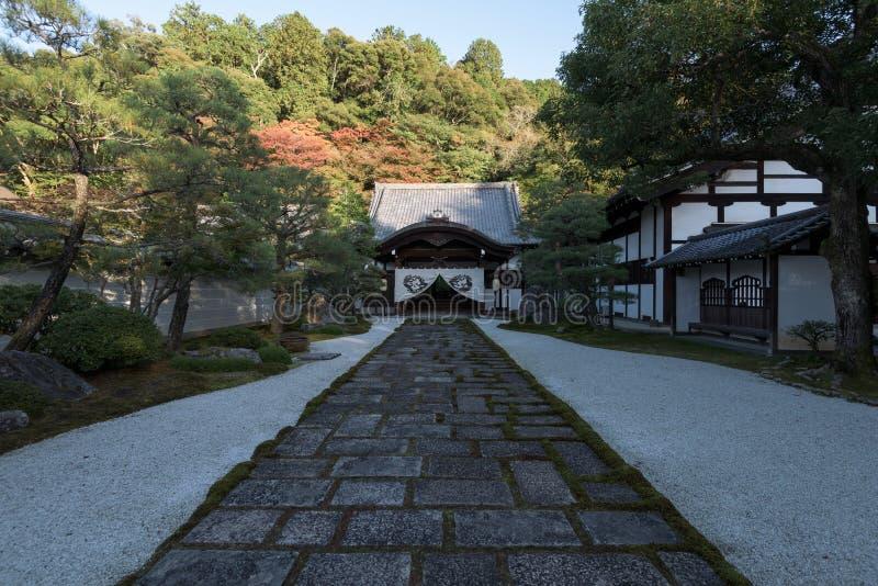 Eikan-fa il tempio di Zenrin-ji a Kyoto immagine stock libera da diritti