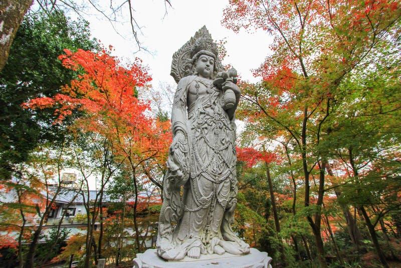 Eikando tempel (Zenrin-ji) i höst arkivfoto