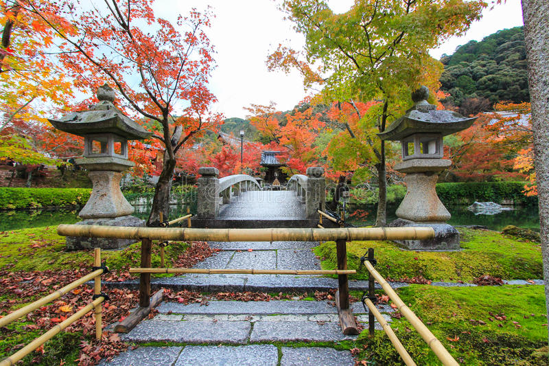 Eikando tempel (Zenrin-ji) i höst arkivbilder