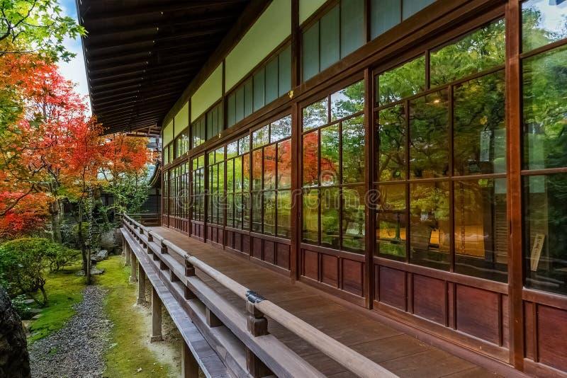 Eikando Zenrin-ji tempel i Kyoto royaltyfria bilder