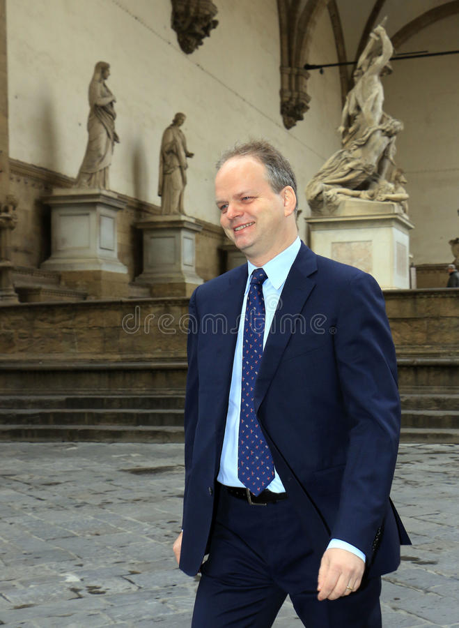 Eike Schmidt. New director of the Uffizi Gallery,Museum , art, florence stock images
